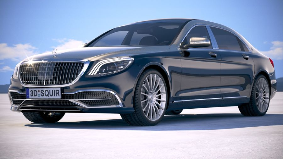 Mercedes Maybach 2019 royalty-free 3d model - Preview no. 13