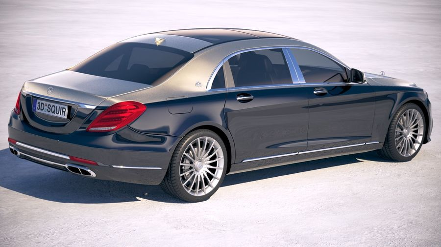 Mercedes Maybach 2019 royalty-free 3d model - Preview no. 5