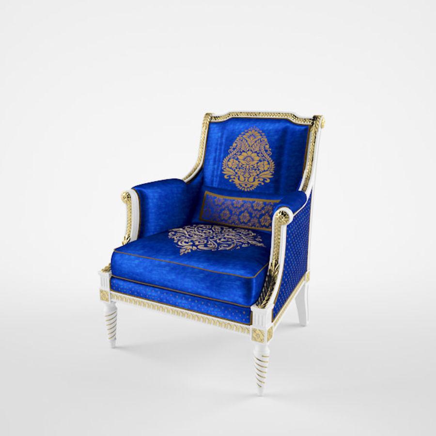 Классическое кресло royalty-free 3d model - Preview no. 4