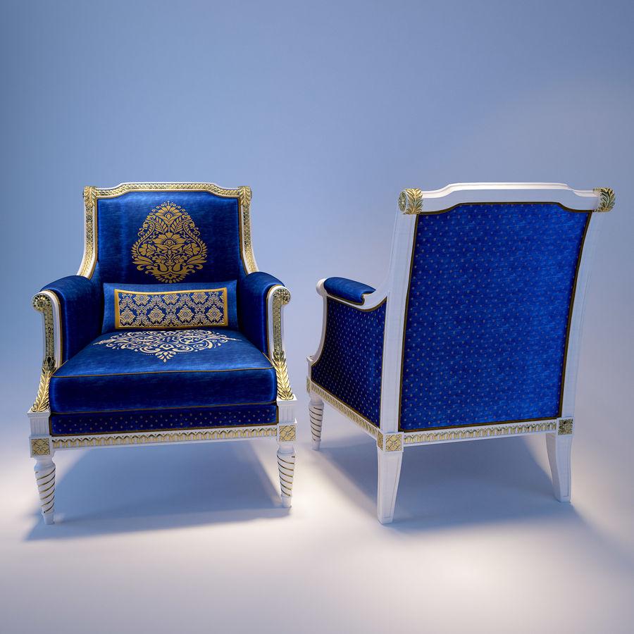 Классическое кресло royalty-free 3d model - Preview no. 1