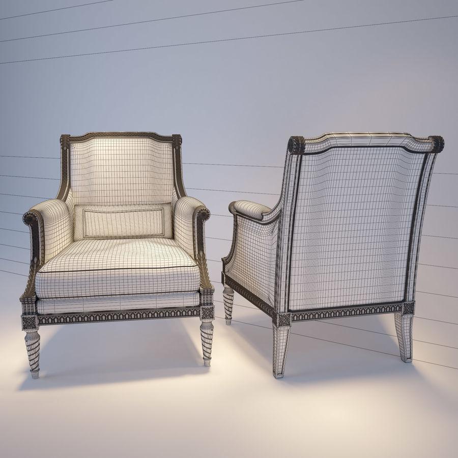 Классическое кресло royalty-free 3d model - Preview no. 2