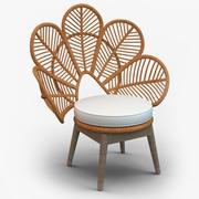 Krzesło rattanowe Daisie 3d model