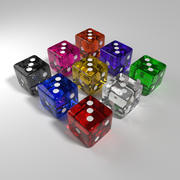 Glass Dice 3d model