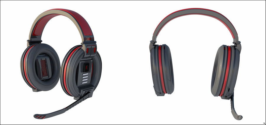 Gamer-koptelefoon royalty-free 3d model - Preview no. 3