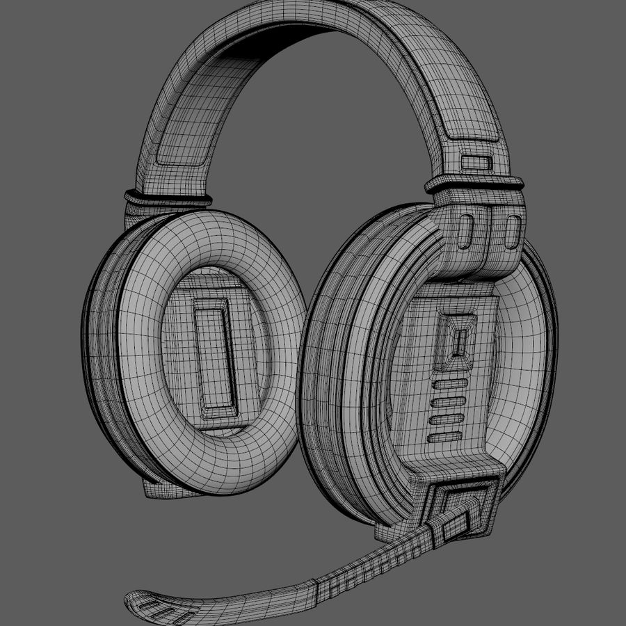 Gamer-koptelefoon royalty-free 3d model - Preview no. 5