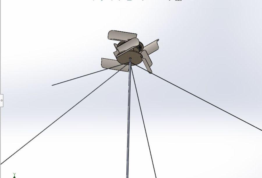 Ветровая турбина royalty-free 3d model - Preview no. 4