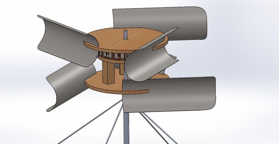 Ветровая турбина royalty-free 3d model - Preview no. 1