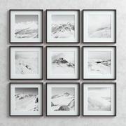 Picture Frames Set -6 3d model