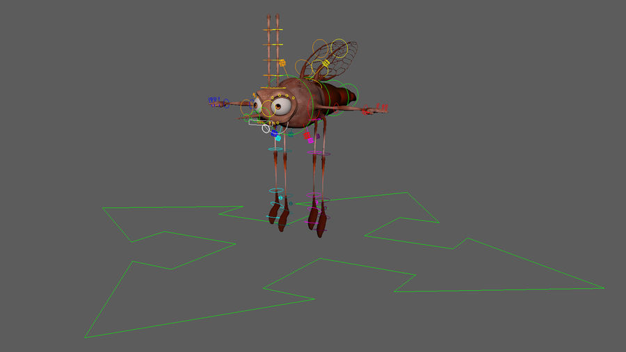 Mosquito royalty-free 3d model - Preview no. 8