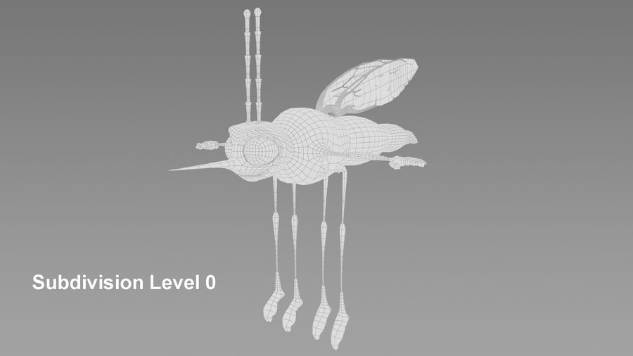 Mosquito royalty-free 3d model - Preview no. 6