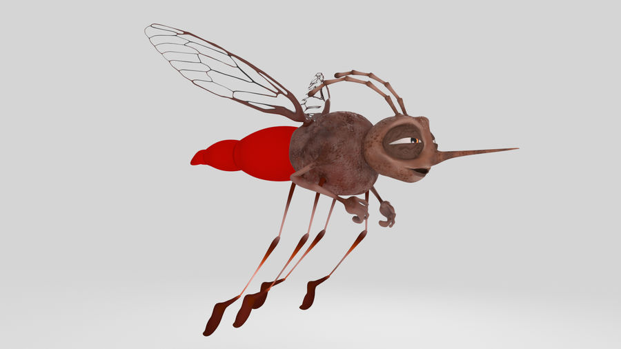 Mosquito royalty-free 3d model - Preview no. 1