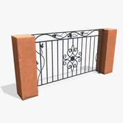 Low-poly Metal Fence 3d model