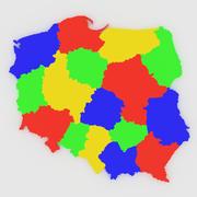 ポーランドの地図 3d model