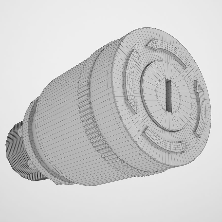 Emergency Stop Key Reset 03 royalty-free 3d model - Preview no. 4