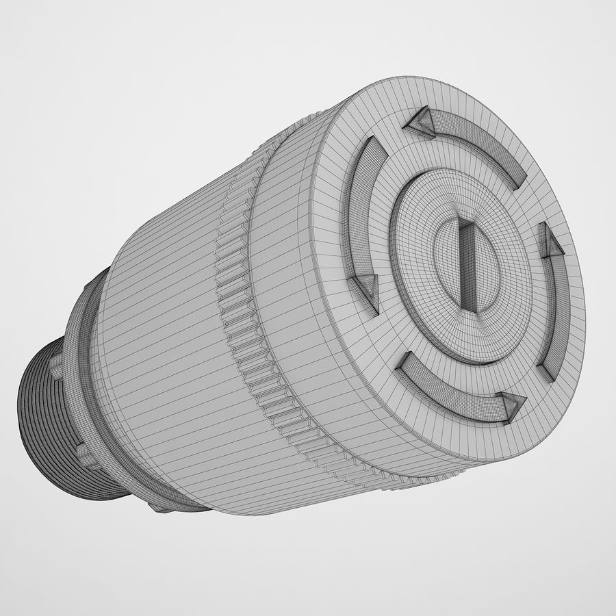 Emergency Stop Key Reset 03 royalty-free 3d model - Preview no. 3