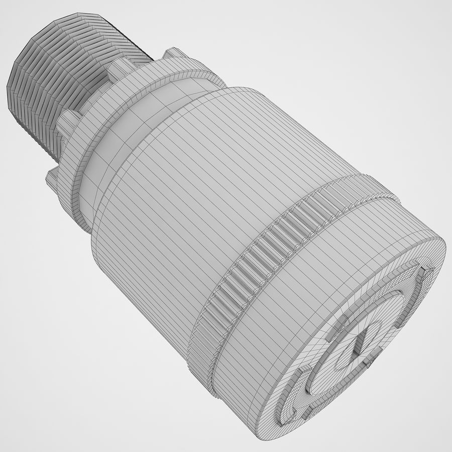 Emergency Stop Key Reset 03 royalty-free 3d model - Preview no. 8