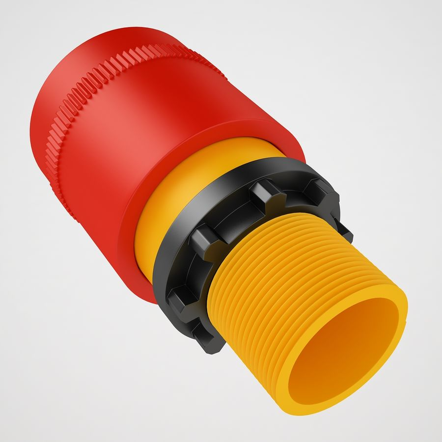 Emergency Stop Key Reset 03 royalty-free 3d model - Preview no. 17