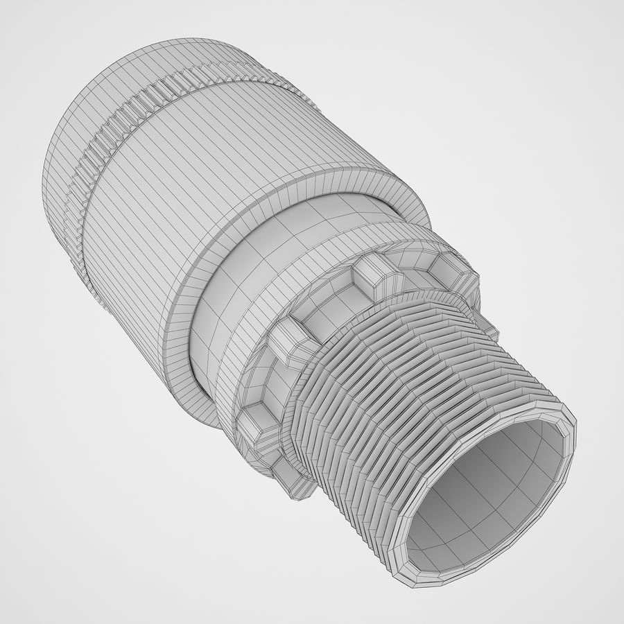 Emergency Stop Key Reset 03 royalty-free 3d model - Preview no. 18