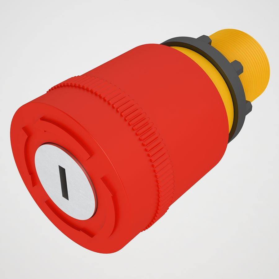 Emergency Stop Key Reset 03 royalty-free 3d model - Preview no. 9