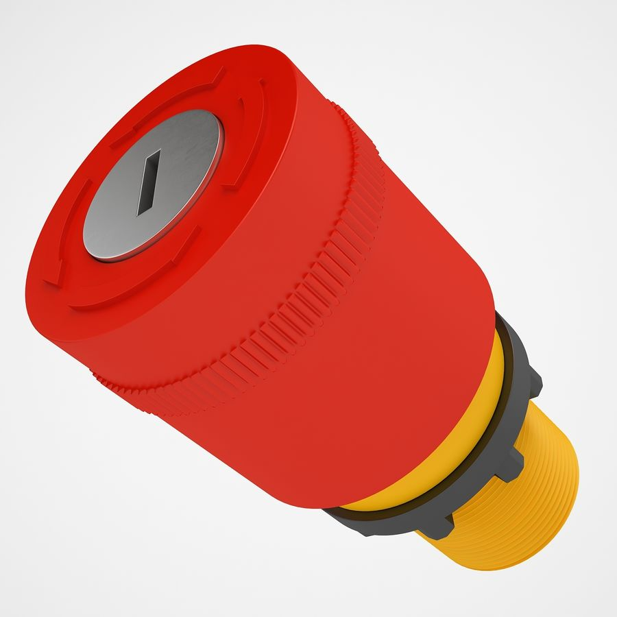 Emergency Stop Key Reset 03 royalty-free 3d model - Preview no. 11