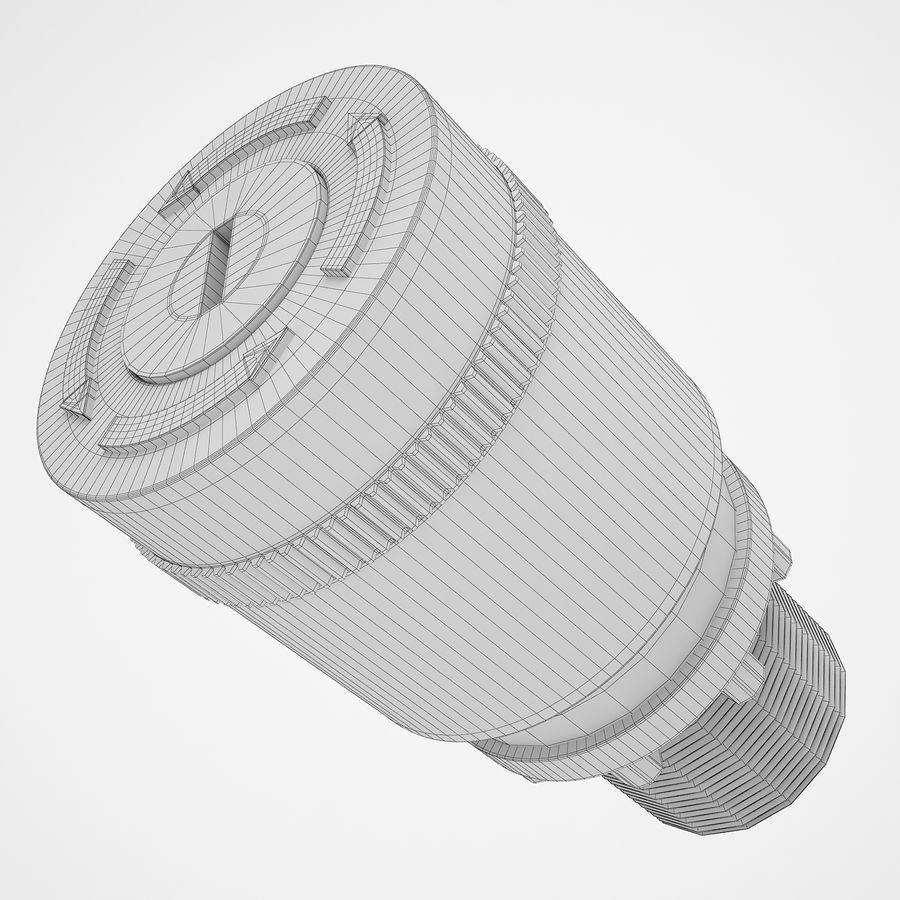 Emergency Stop Key Reset 03 royalty-free 3d model - Preview no. 12
