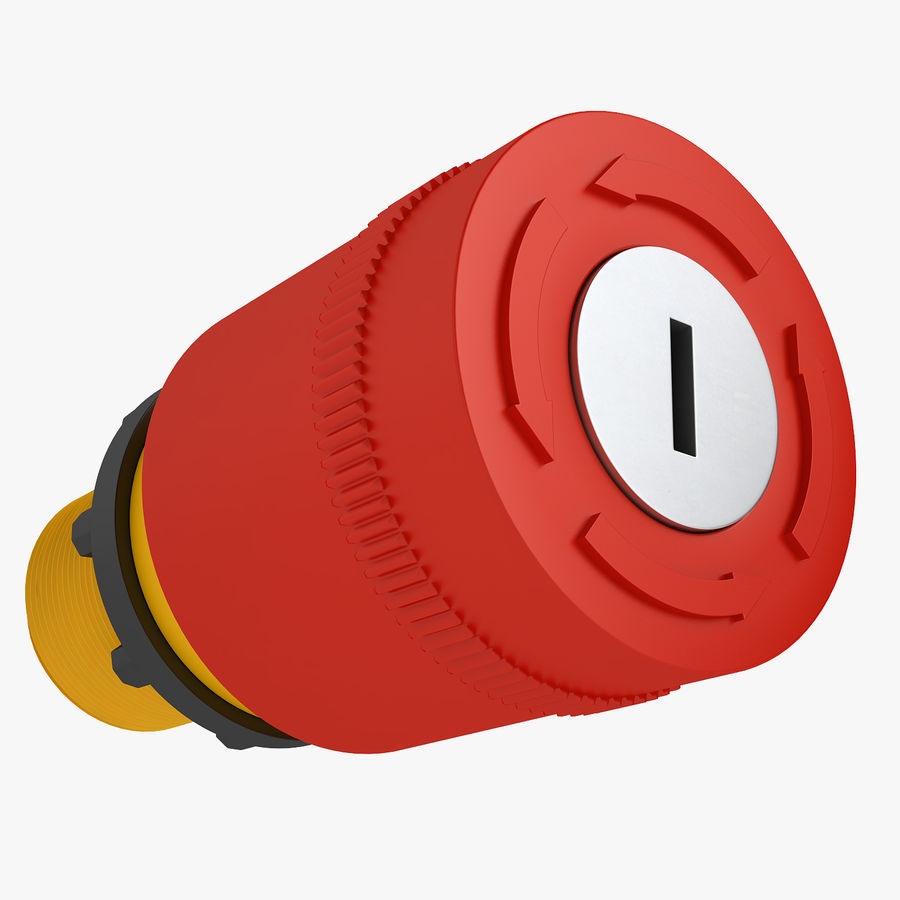 Emergency Stop Key Reset 03 royalty-free 3d model - Preview no. 1