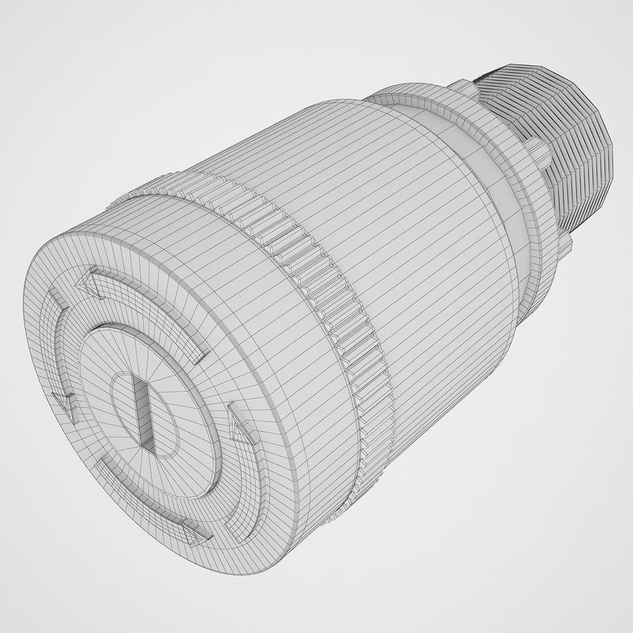 Emergency Stop Key Reset 03 royalty-free 3d model - Preview no. 10
