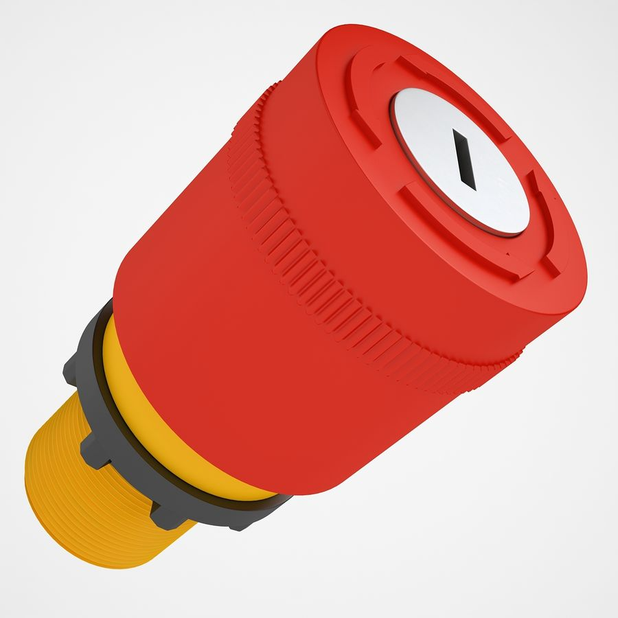 Emergency Stop Key Reset 03 royalty-free 3d model - Preview no. 13