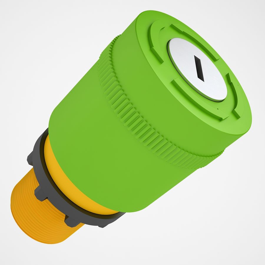 Emergency Stop Key Reset 04 royalty-free 3d model - Preview no. 13