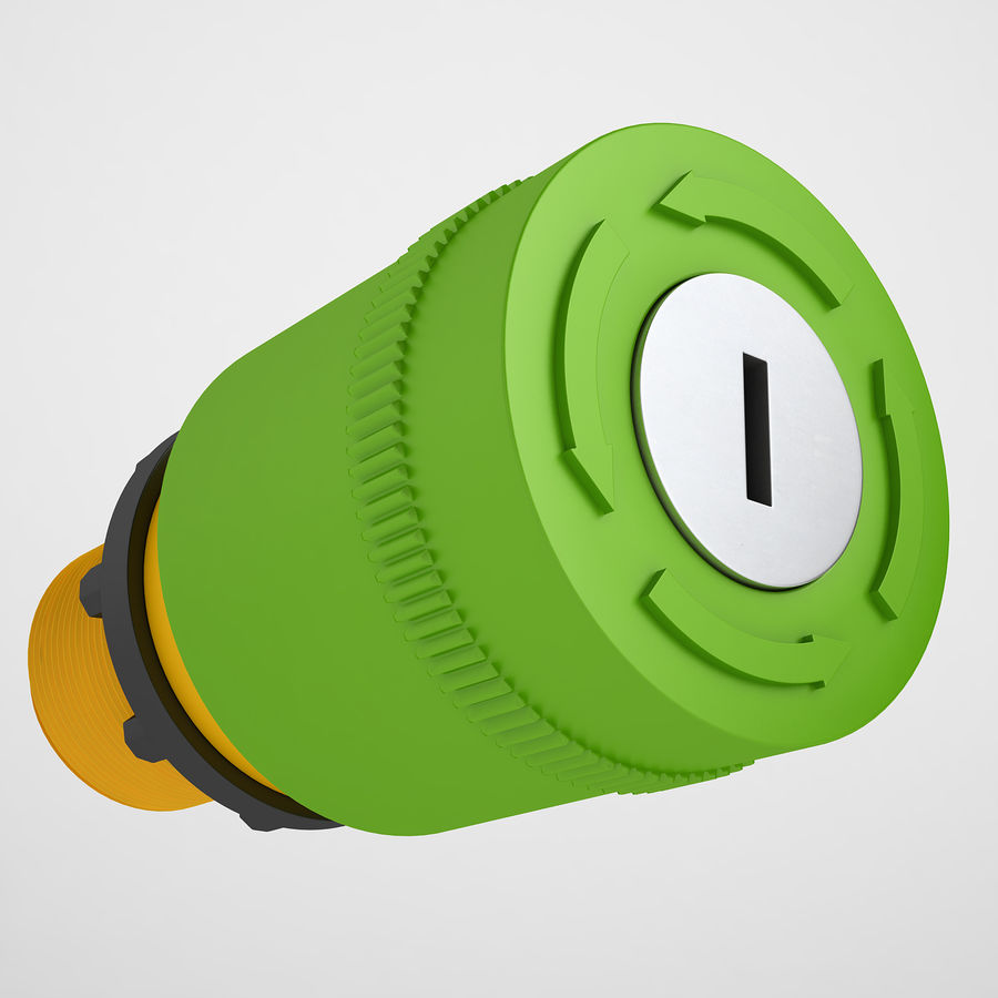 Emergency Stop Key Reset 04 royalty-free 3d model - Preview no. 2