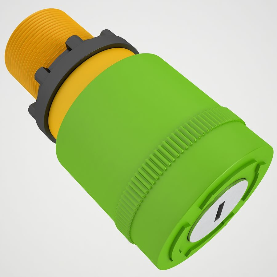 Emergency Stop Key Reset 04 royalty-free 3d model - Preview no. 7