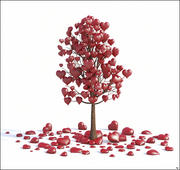 バレンタインの愛の木 3d model