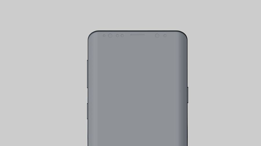 Samsung Galaxy S9 Plus royalty-free 3d model - Preview no. 22