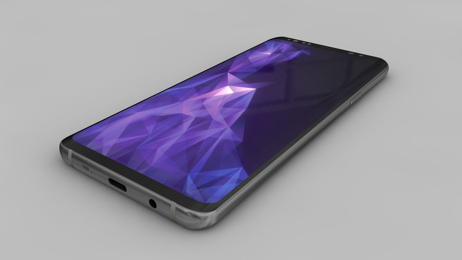 Samsung Galaxy S9 Plus royalty-free 3d model - Preview no. 19