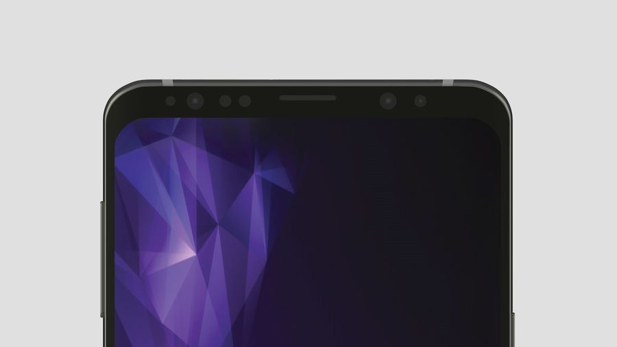 Samsung Galaxy S9 Plus royalty-free 3d model - Preview no. 12