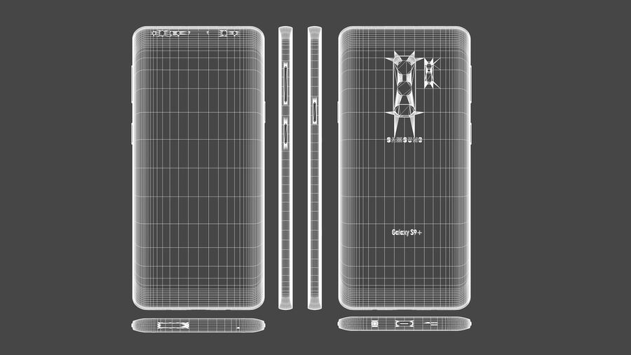 Samsung Galaxy S9 Plus royalty-free 3d model - Preview no. 26