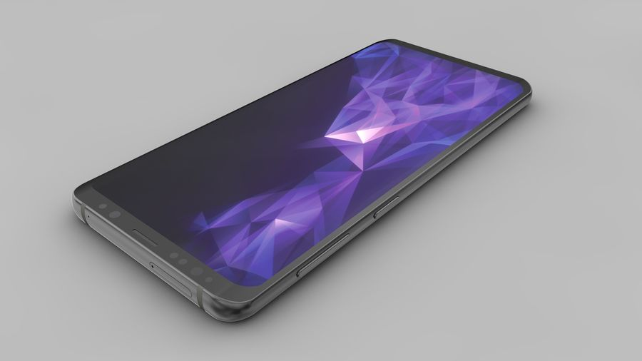 Samsung Galaxy S9 Plus royalty-free 3d model - Preview no. 14