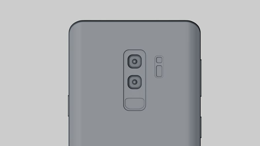 Samsung Galaxy S9 Plus royalty-free 3d model - Preview no. 24