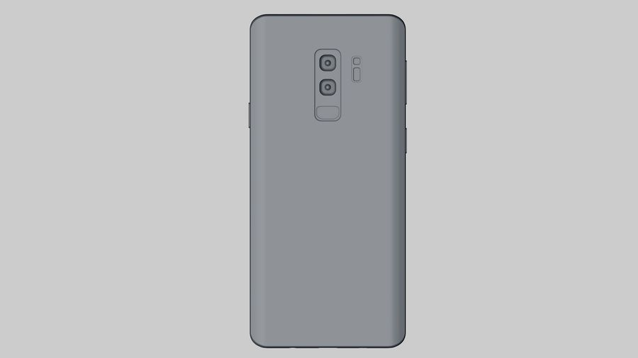 Samsung Galaxy S9 Plus royalty-free 3d model - Preview no. 23
