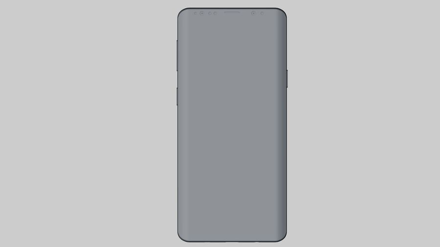 Samsung Galaxy S9 Plus royalty-free 3d model - Preview no. 21