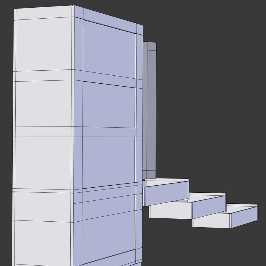 사무실 옷장 내각 royalty-free 3d model - Preview no. 11