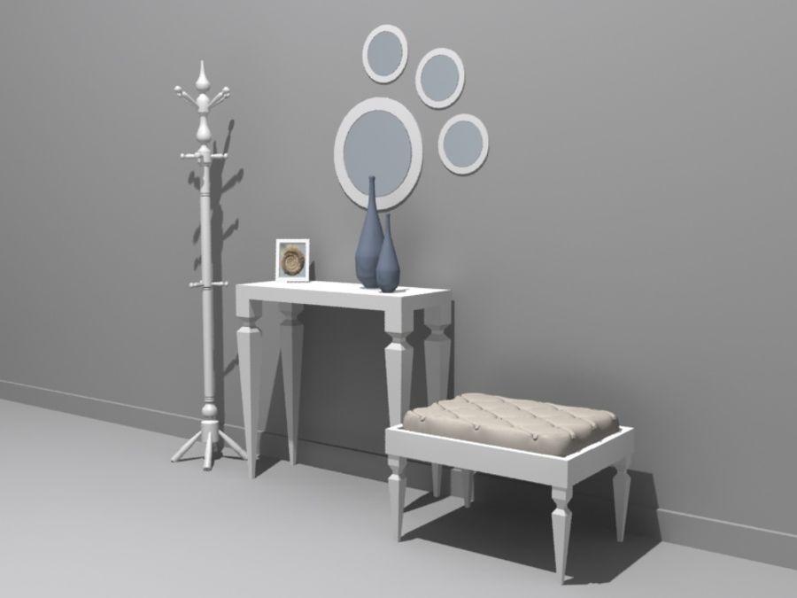mobília do salão royalty-free 3d model - Preview no. 3