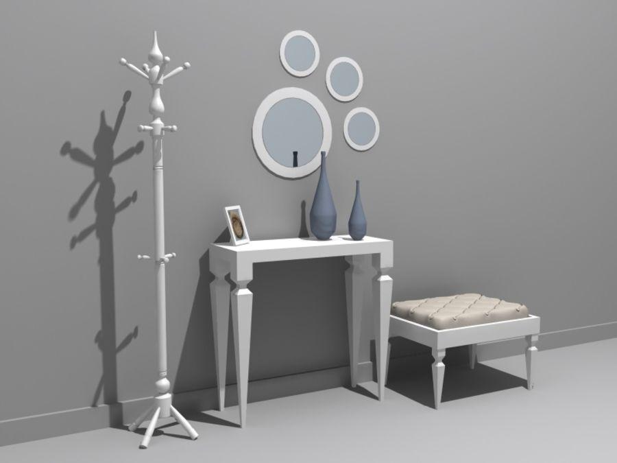 mobília do salão royalty-free 3d model - Preview no. 1
