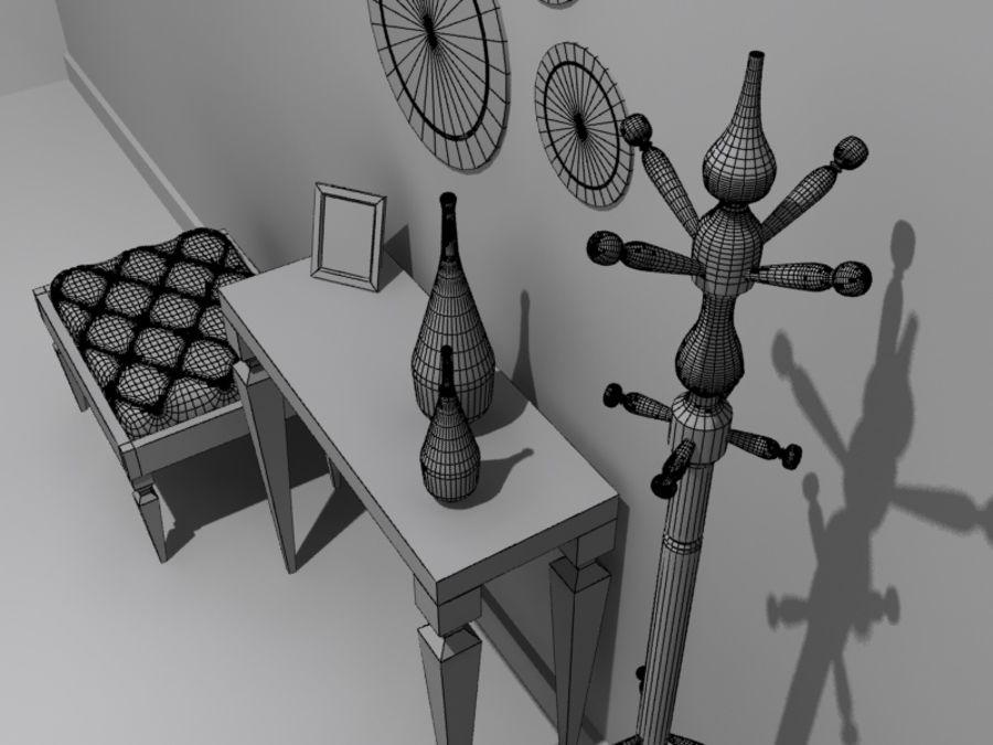 mobília do salão royalty-free 3d model - Preview no. 6