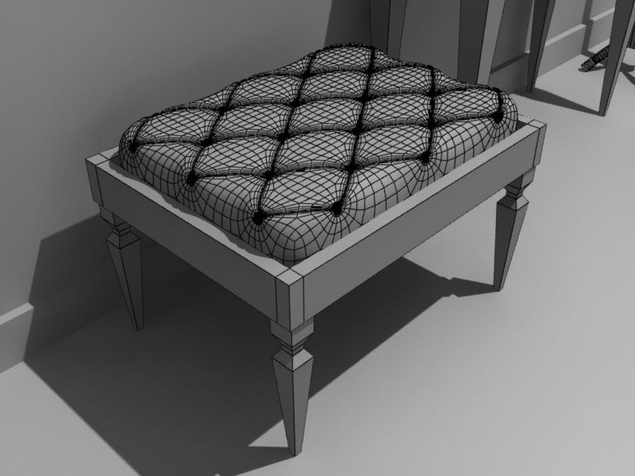 mobília do salão royalty-free 3d model - Preview no. 5