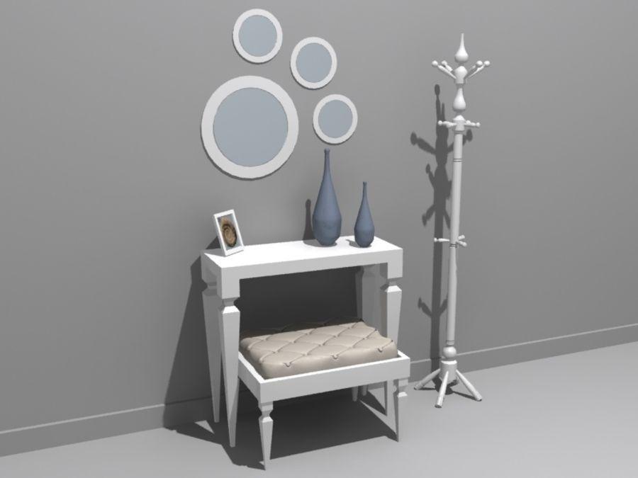mobília do salão royalty-free 3d model - Preview no. 4