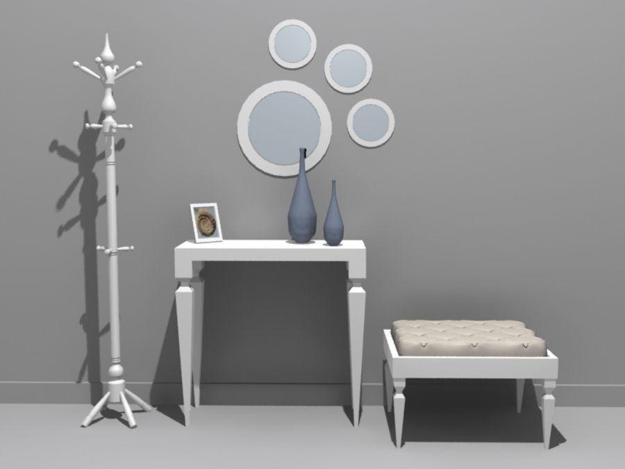 mobília do salão royalty-free 3d model - Preview no. 2