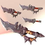 Medieval Dagger Stylized Game Ready 3d model