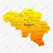 Carte de la Belgique 3d model