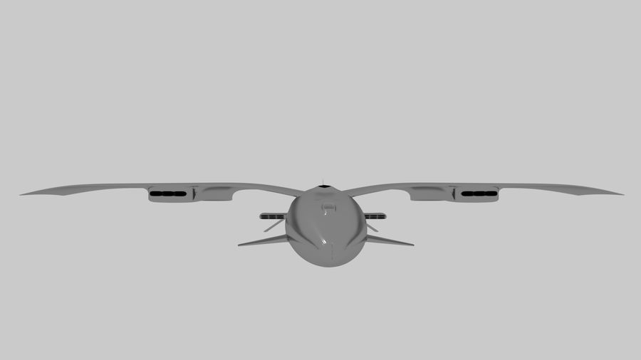 drone future royalty-free 3d model - Preview no. 6